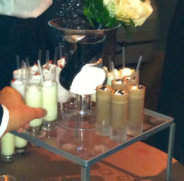 More deliciousness in shot glasses. Milkshakes galore!